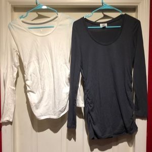 2 Sm. Maternity long sleeve, Liz Lange & Old Navy